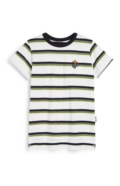 Younger Boy Cactus Stripe T-Shirt