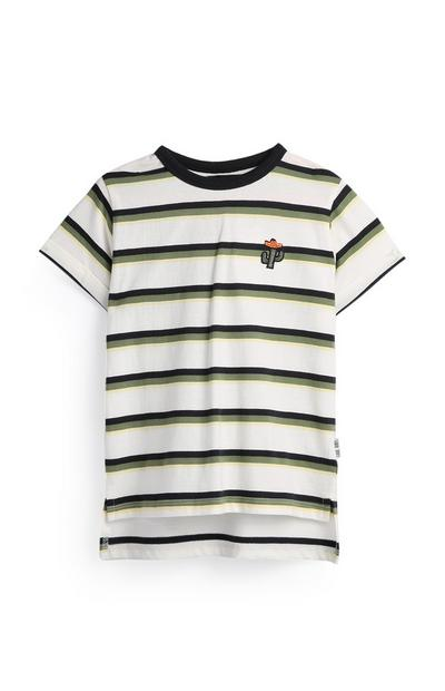 Younger Boy Striped Cactus T-Shirt