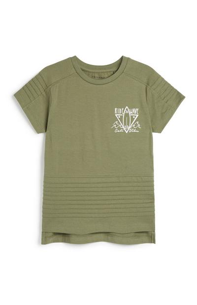 Younger Boy Khaki T-Shirt