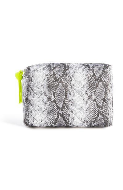 Snake Print Make Up Bag