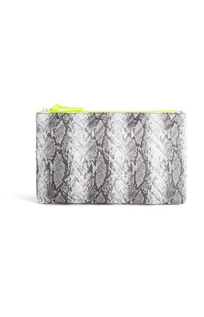 Snake Print Large Wash Bag