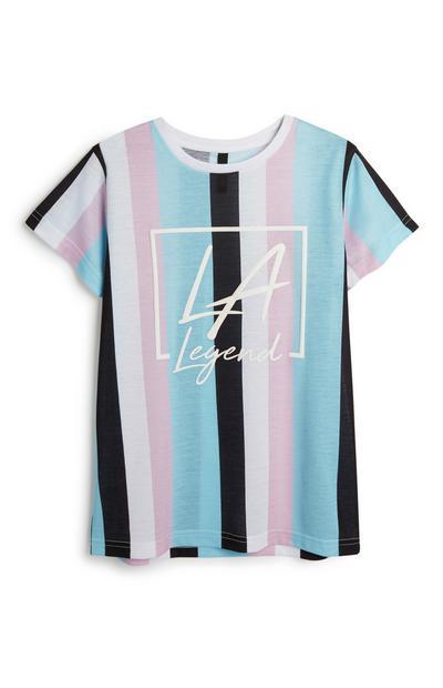 Older Boy Stripe LA T-Shirt