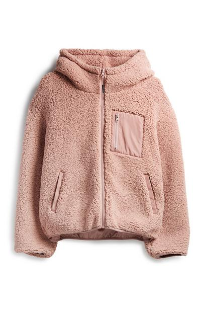 Blush Hooded Fleece