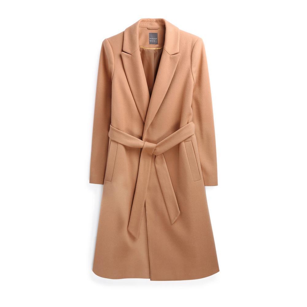 extremadamente único fabricación hábil mejor Abrigo marrón con cinturón   Abrigos   Abrigos y chaquetas ...