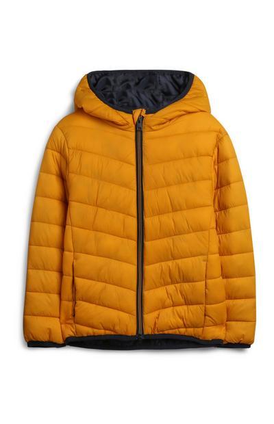Younger Boy Mustard Puffer Jacket