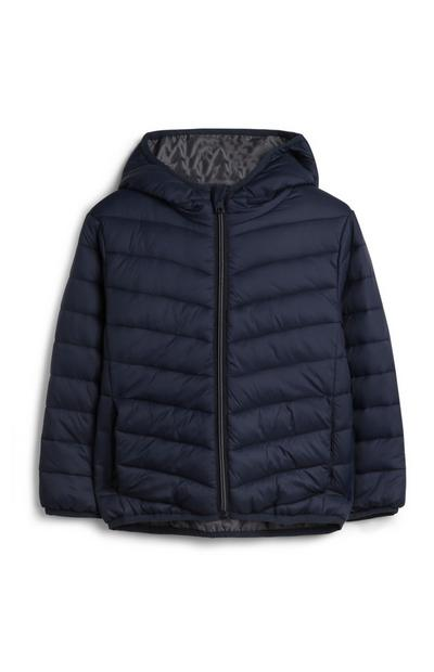 Younger Boy Navy Puffer Hoodie