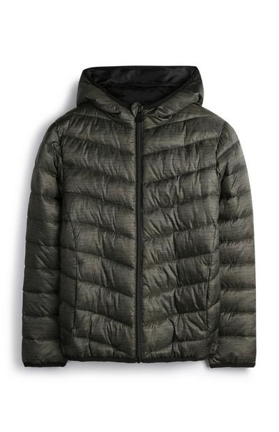 Younger Boy Khaki Puffer Jacket