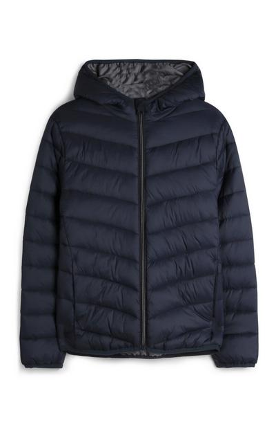 Older Boy Navy Puffer Jacket