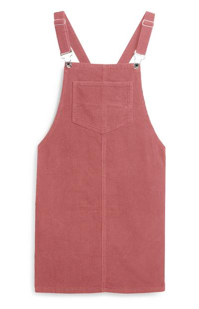 Blush Pinafore Dress
