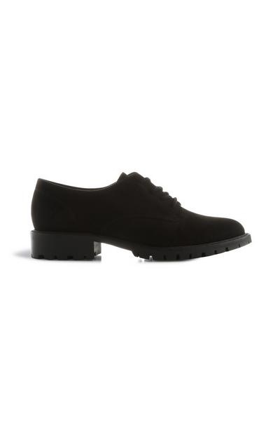 Black Cleated Lace Up Shoe