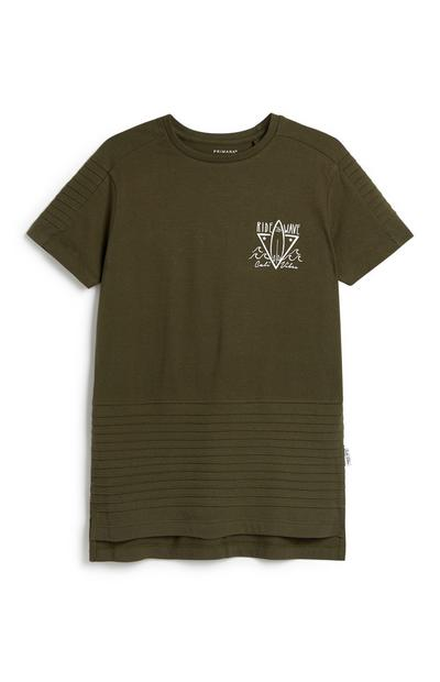 Older Boy Khaki T-Shirt