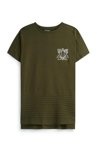 Older Boy Khaki T-Shirt
