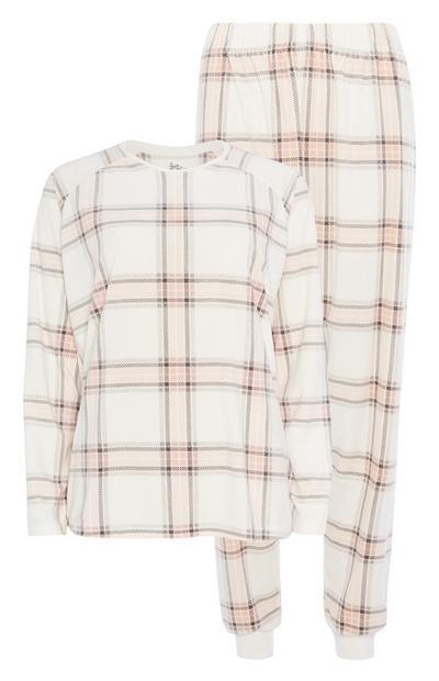 Ivory Check Pyjama Set