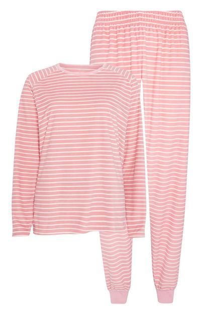 Pink Striped Pyjamas 2Pc