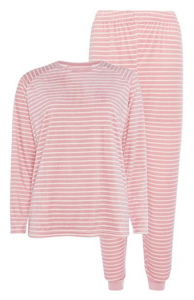Pink Stripe Pyjama Set