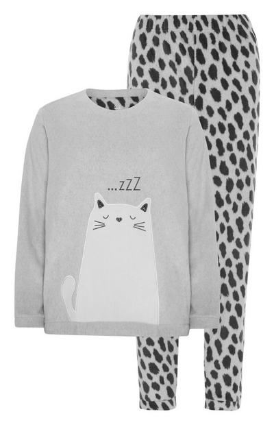 Cat Fleece Pyjama