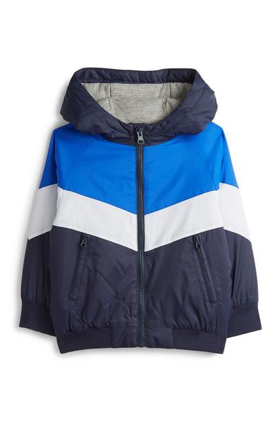 Younger Boy Blue Colour Block Jacket