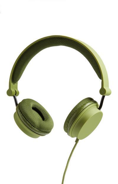 Khaki Headphones