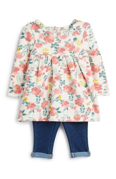 Baby Girl Floral Outfit 2Pc