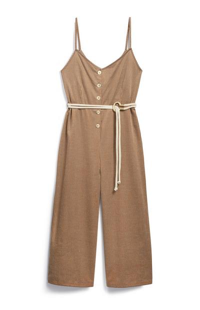 Jersey Belted Jumpsuit