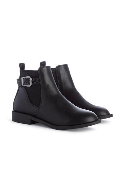 Younger Girl Black Chelsea Boots