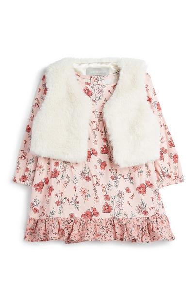 Baby Girl Floral Dress And Gilet