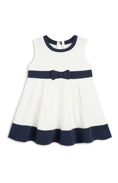 Baby Girl Navy And Ivory Dress