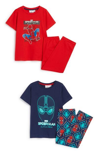 Younger Boy Spiderman Pyjama 2Pk