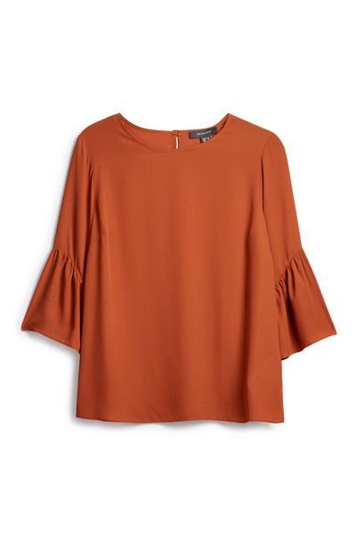 Orange Flare Top