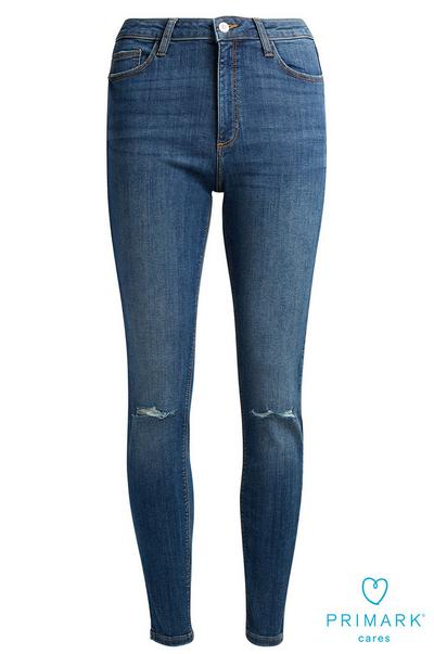 f0208648594 Dark Blue Ripped Sustainable Cotton Jeans