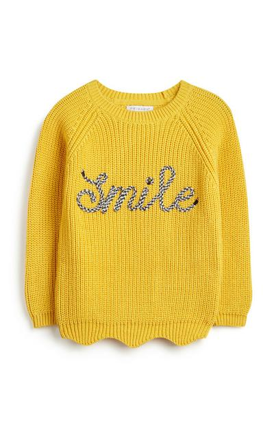 Younger Girl Slogan Jumper