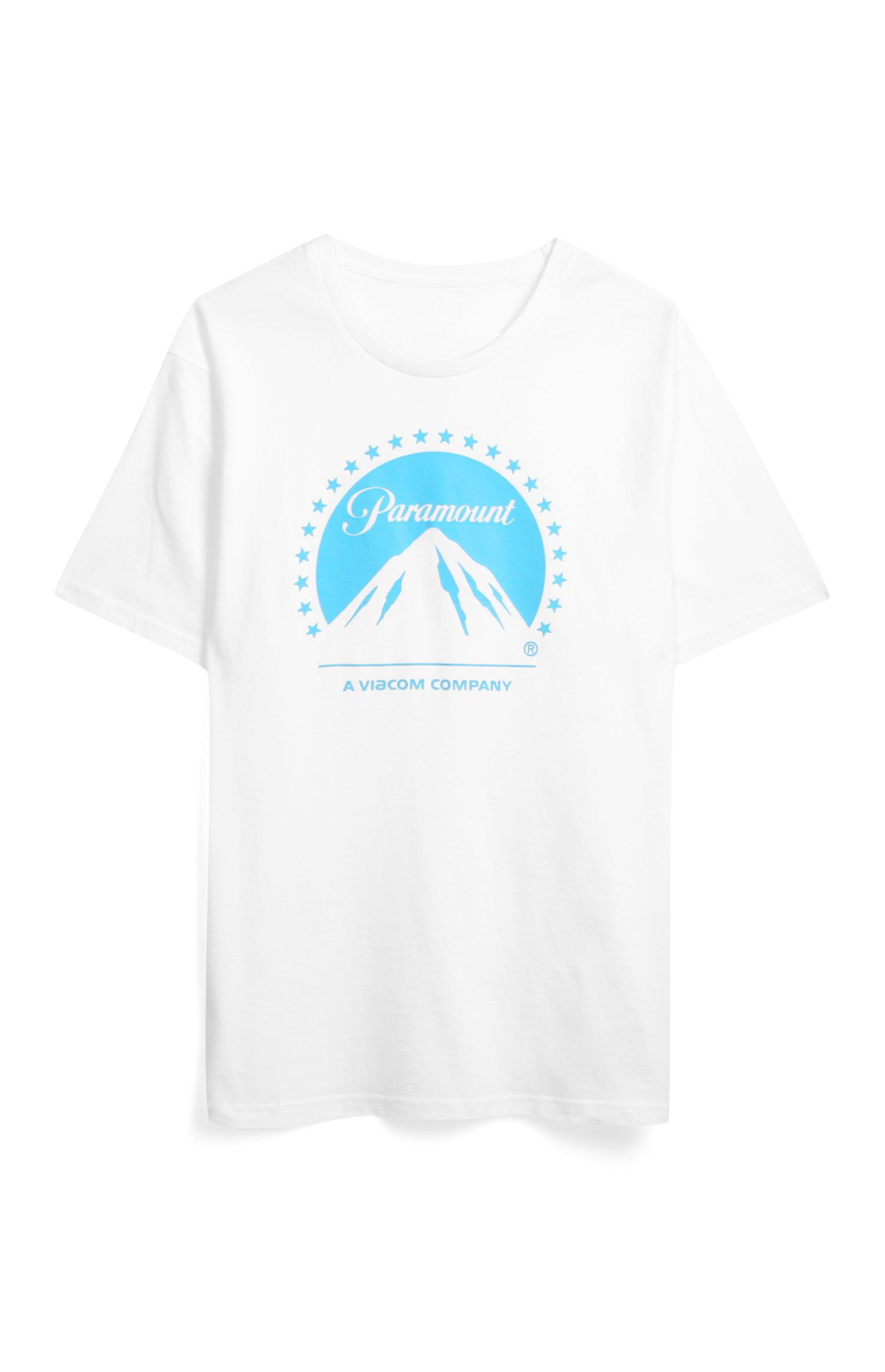 Wit T-shirt met Paramount-print