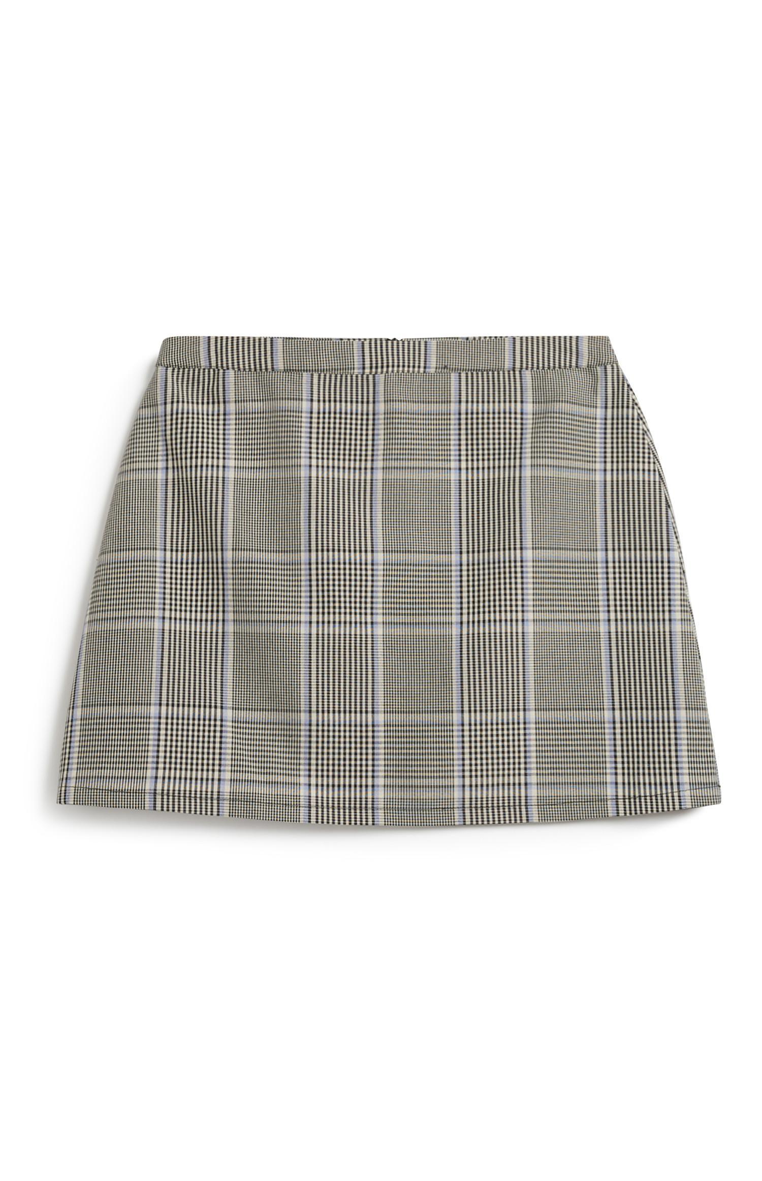 Check Woven Skirt