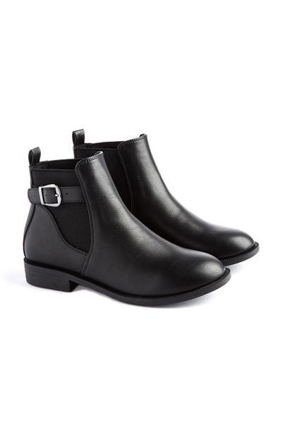 Younger Girl Black Chelsea Boot
