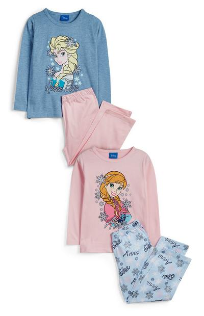 Younger Girl Frozen Pyjama Sets 2Pk