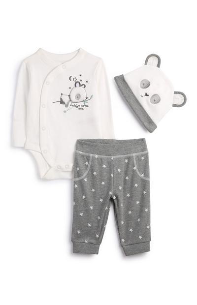 Newborn Panda Outfit 3Pc