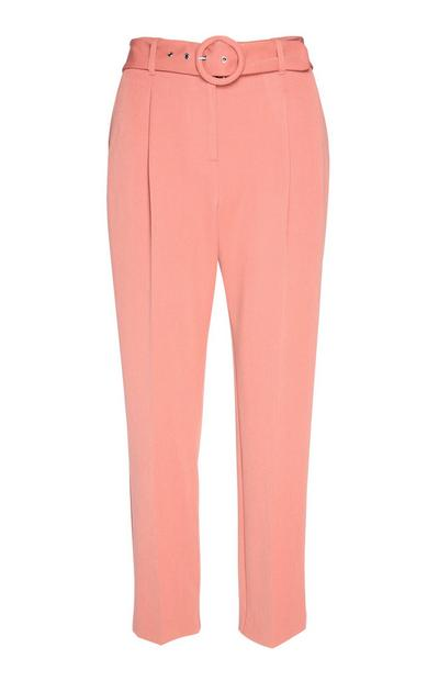 Pink Buckle Belt Trouser