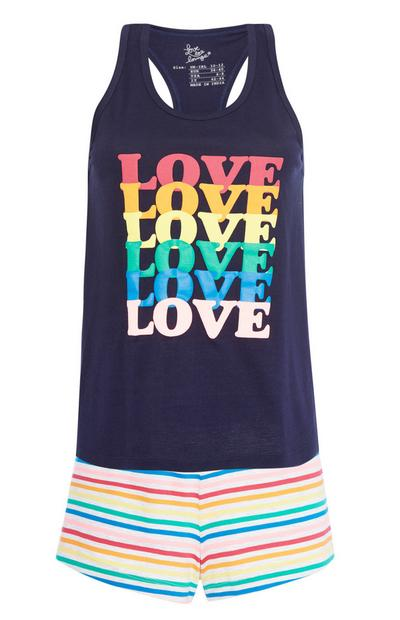 Love Slogan Pyjama Set
