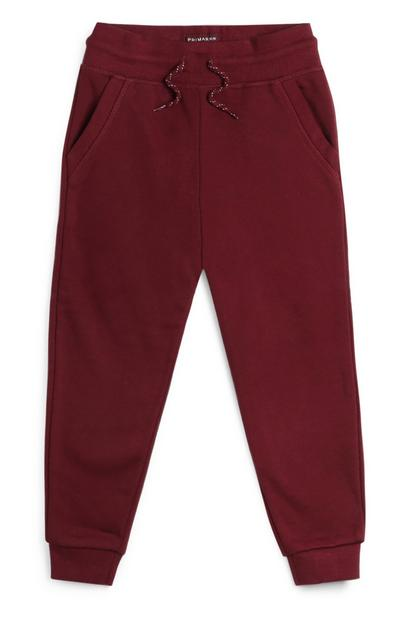 Younger Boy Burgundy Joggers