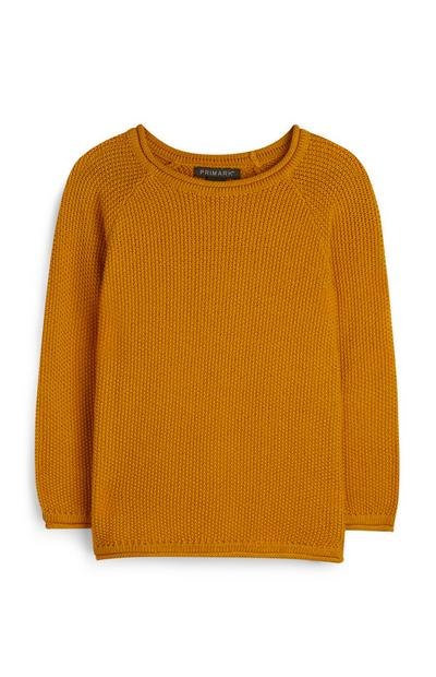 Younger Boy Mustard Jumper