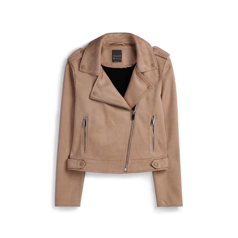 reasonably priced best selling great deals 2017 Cream Faux Suede Biker Jacket   Coats   Coats & Jackets ...