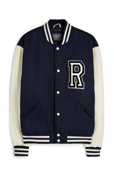 Navy Varsity Jacket