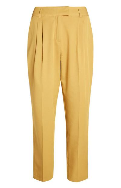 Yellow Peg Leg Trouser