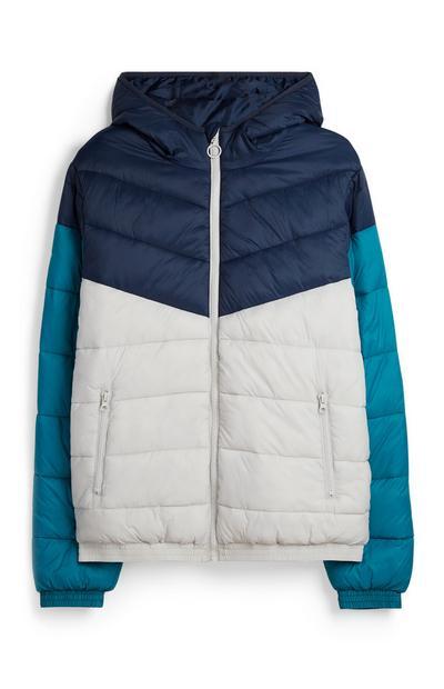 Colour Block Hooded Jacket
