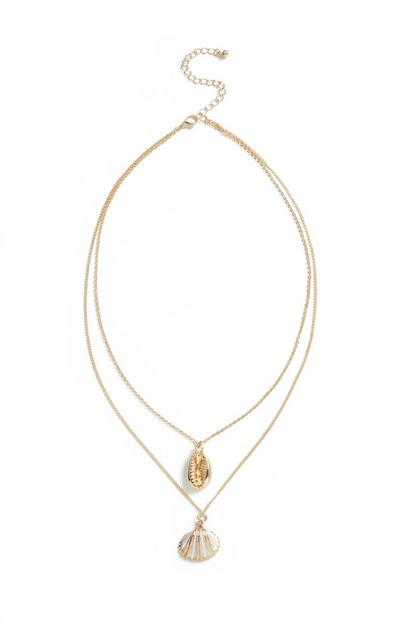 2 Tier Shell Necklace