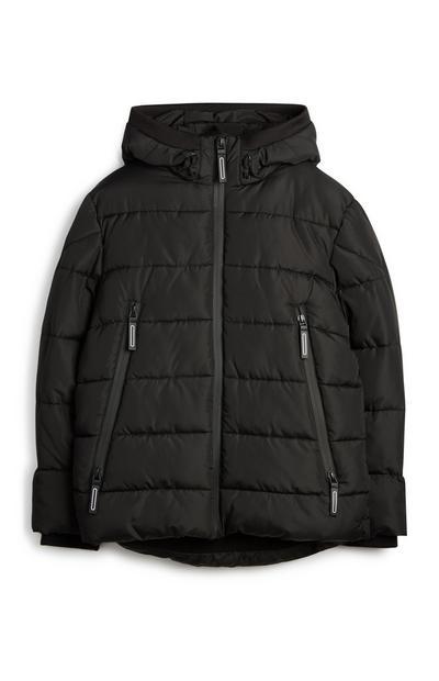 Older Boy Black Puffer Coat