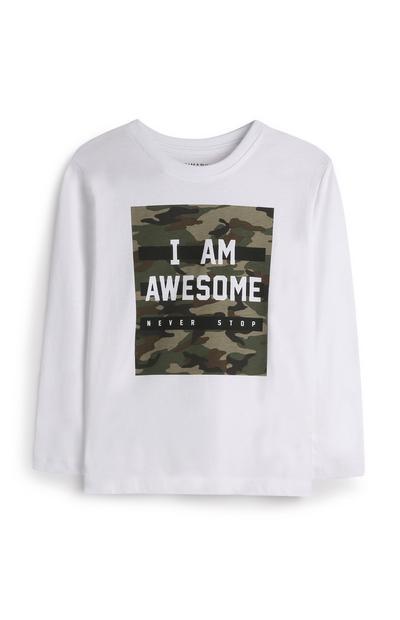 Younger Boy White Camo T-Shirt