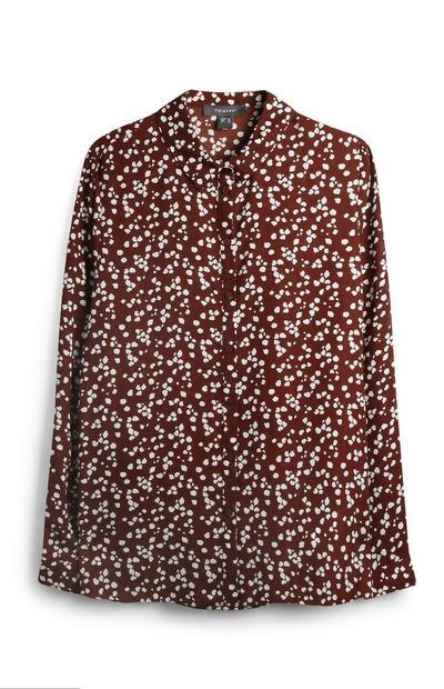 Brown Dotty Shirt