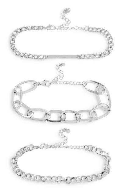 Chain Bracelet 3Pk