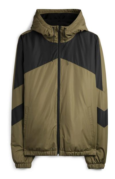 Khaki Chevron Jacket